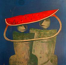 Vallejos Jorge (Peru 1965-) Character with Watermelon V