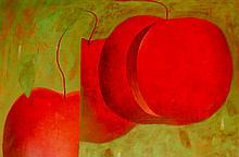 Vallejos Jorge (Peru 1965-) Floating Red Apples