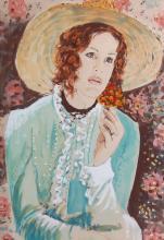 Azene Arie (German born1934-) Portrait Of A Lady