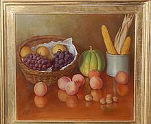Gussenhoven Joseph (Belgian 1871-1953)- Still Life with Fruits
