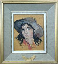 Koeva-Ehlinger Radka (1937-) Portrait of a Girl with Hat