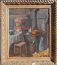 Tourte Suzanne (French 1904-1979)- Kitchen Interior