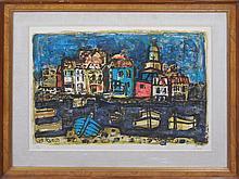 Paul Augustin Aizpiri (French 1919-)- Venice