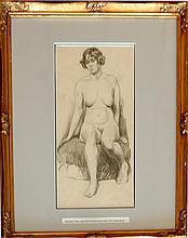 Greiffenhagen Maurice William (British 1862-1931)- Observation of a Female Nude