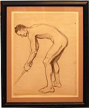 Quincy Edmund (French/American 1903-1997)- Academic Study Of A Man With Golf Stick