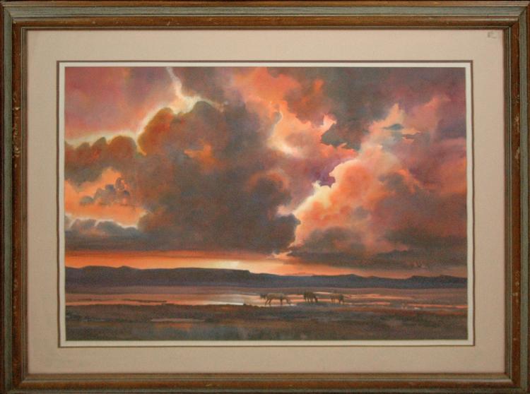 Jolley Donald (American 1933-) Wild Horses