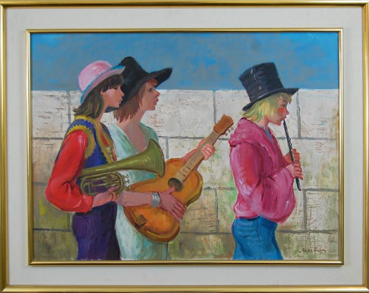 Chochon André (French born 1930-): Three Musicians