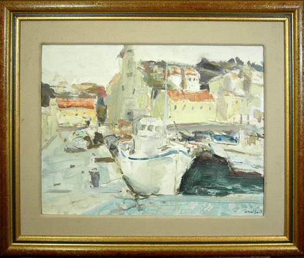 Woulfart Marius (French 1905-1991): French Port