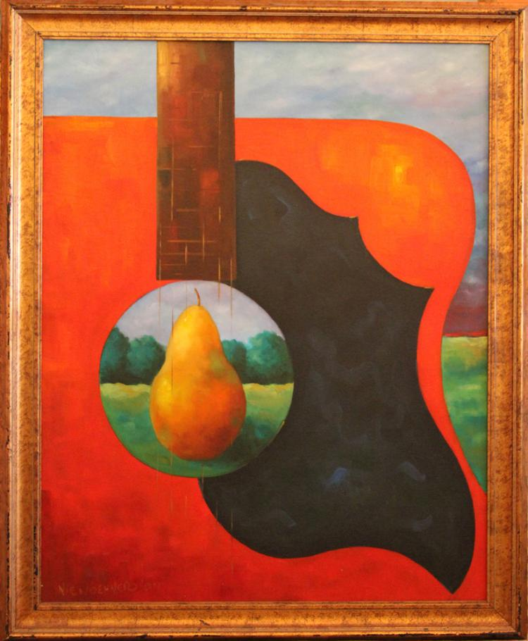Niewoehner Everett (American born 1939): Pear in the Red Guitar
