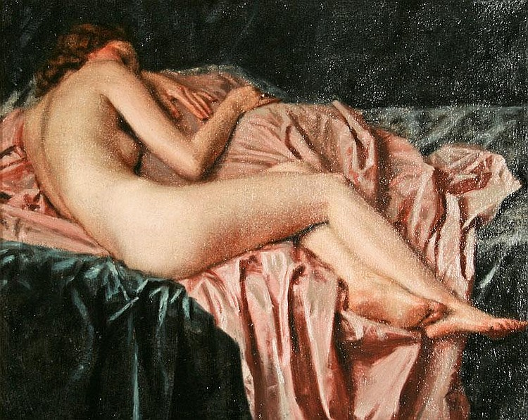 Maurice Joron, Untitled (Nude), oil on canvas