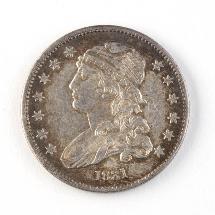 United States 1831 25c Capped Bust Silver Coin