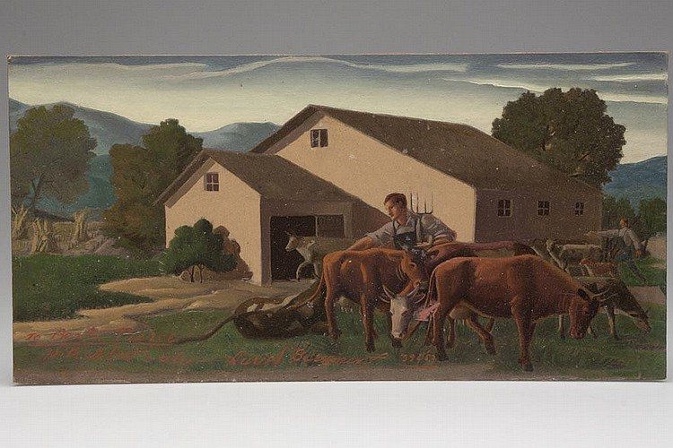 AURIEL BESSEMER (WASHINGTON, DC, 1909-1986) WPA / NEW DEAL ERA PAINTING