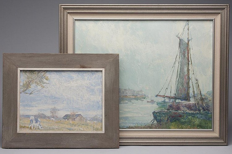 TWO CHRISTOPHER BENVIE (AMERICAN, 1919-1995) PAINTINGS