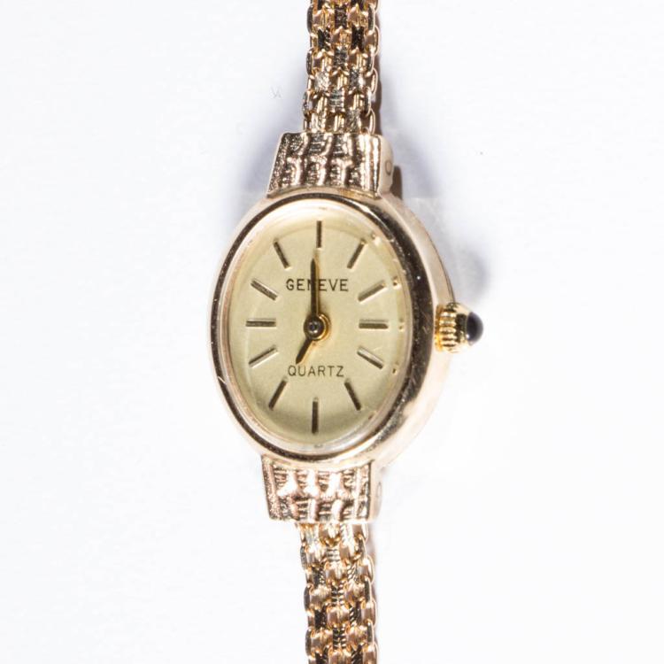 vintage s 14k gold geneve quartz wrist