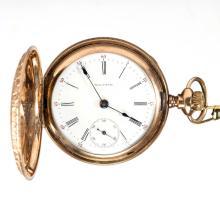 WALTHAM 15-JEWEL MAN'S MODEL 1883 POCKET WATCH