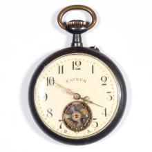 CONTINENTAL EXPOSED WHEEL POCKET WATCH
