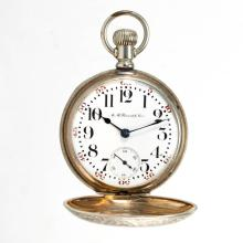 ILLINOIS WATCH CO. 17-JEWEL MAN'S MODEL 6 PRIVATE LABEL POCKET WATCH