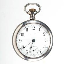 SETH THOMAS MODEL 8 STERLING SILVER CASE POCKET WATCH
