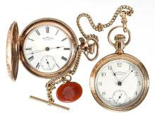 WALTHAM 15-JEWEL MAN'S MODEL 1883 POCKET WATCHES, LOT OF TWO