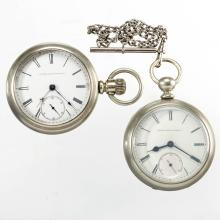 ELGIN MAN'S POCKET WATCHES, LOT OF TWO
