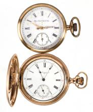ELGIN 15-JEWEL MAN'S MODEL 6 POCKET WATCHES, LOT OF TWO