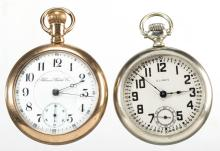 ILLINOIS WATCH CO. MAN'S MODEL 6 POCKET WATCHES, LOT OF TWO
