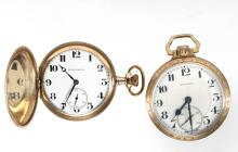 ILLINOIS WATCH CO. / BURLINGTON 21-JEWEL MAN'S POCKET WATCHES, LOT OF TWO