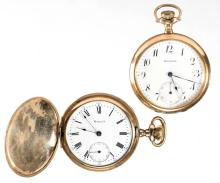 E. HOWARD WATCH CO. 17-JEWEL MAN'S POCKET WATCHES, LOT OF TWO