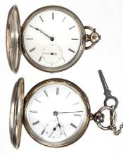 AMERICAN KEY-WIND POCKET WATCHES, LOT OF TWO