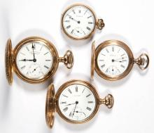 WALTHAM LADY'S MODEL 1890 AND MODEL 1891 POCKET WATCHES, LOT OF FOUR