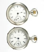 ILLINOIS WATCH CO. MAN'S MODEL 2 POCKET WATCHES, LOT OF TWO