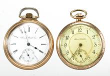 ILLINOIS WATCH CO. MAN'S MODEL 5 POCKET WATCHES, LOT OF TWO