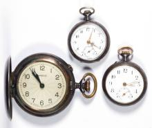 SWISS / AMERICAN POCKET WATCHES, LOT OF THREE