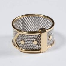 ITALIAN 18K GOLD AND PLATINUM LADY'S BAND