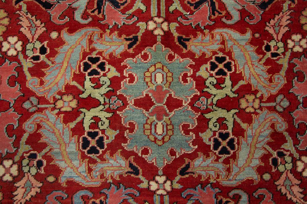 ANTIQUE PERSIAN ORIENTAL ROOM-SIZE CARPET / RUG