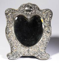 BLACK STARR & FROST STERLING SILVER DRESSING/TABLE MIRROR