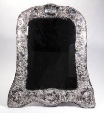 ENGLISH WILLIAM COMYNS STERLING SILVER DRESSING/TABLE MIRROR