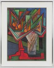 WINSLOW ANDERSON (AMERICAN, 1917-2007) ABSTRACT STILL-LIFE DRAWING