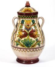 WINSLOW ANDERSON PLYMOUTH POTTERY LARGE CERAMIC COVERED JAR