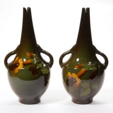 AMERICAN ART POTTERY PAIR OF VASES