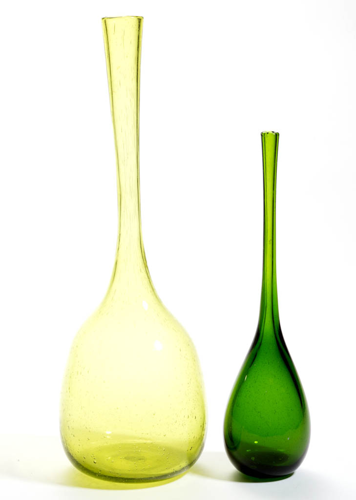 Experimental blenko glass winslow anderson bud vases lot for Anderson art glass