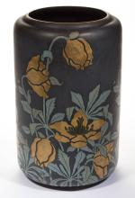 GERMAN METTLACH SIGNED ART NOUVEAU CERAMIC FLOOR VASE