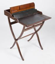 BRITISH / INDIAN MAHOGANY CAMPAIGN DESK