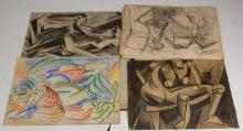 GROUP OF WINSLOW ANDERSON (AMERICAN, 1917-2007) SKETCHES/STUDIES