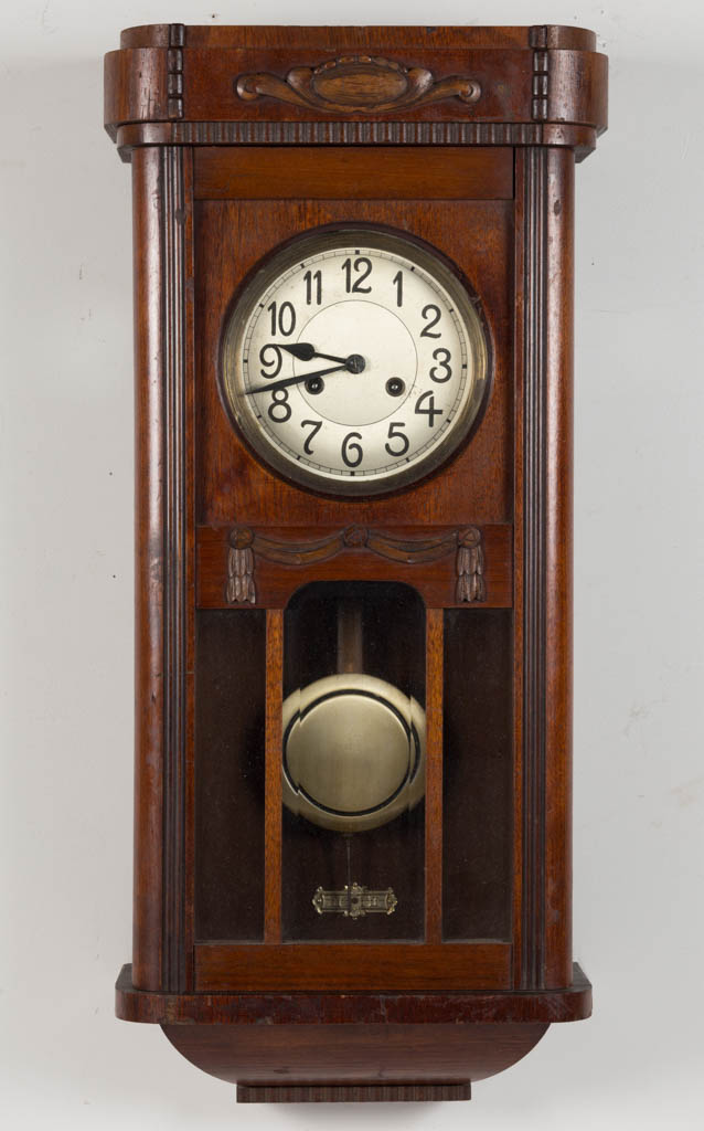 German Adler Gong Walnut Wall Clock