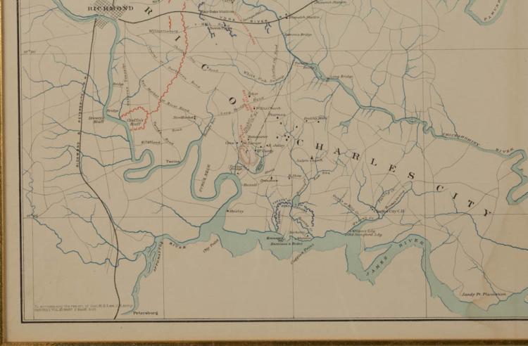 Civil War Military Map Of Virginia