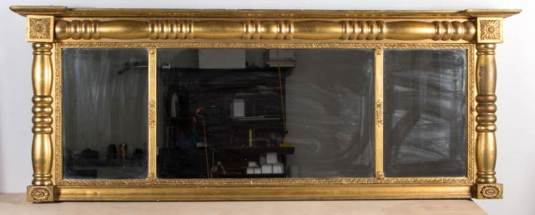 AMERICAN OR ENGLISH CLASSICAL OVERMANTEL MIRROR