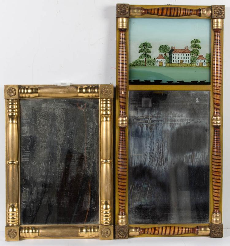 AMERICAN PAINT-DECORATED WALL MIRROR