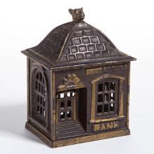 HOME SAVINGS BANK CAST-IRON PENNY / STILL BANK
