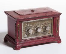 RADIO BANK CAST-IRON PENNY / STILL BANK
